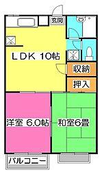 ドエルカシマ[2階]の間取り