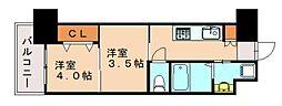オリエントNo.122 12階2Kの間取り
