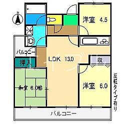 ダイアパレス中宝永町[9階]の間取り