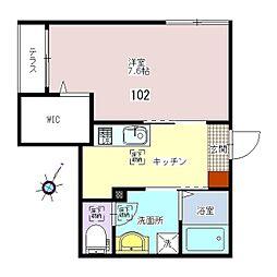 Casa Azul (カーサアズール) 1階1Kの間取り