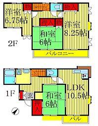 稔台テラスハウスA棟[2階]の間取り