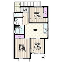 和田ハウス[201号室]の間取り