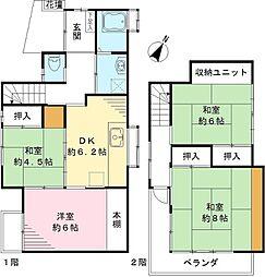 [一戸建] 東京都練馬区石神井台8丁目 の賃貸【/】の間取り