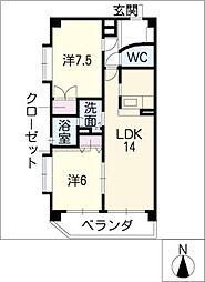 シャトレウィング[4階]の間取り