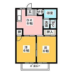 メゾン神谷[1階]の間取り