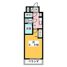 アステリ鶴舞エーナ 9階1Kの間取り