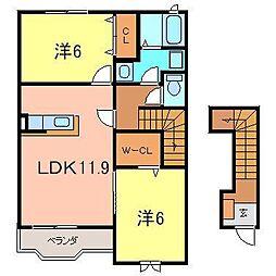 [テラスハウス] 愛知県刈谷市青山町2丁目 の賃貸【/】の間取り
