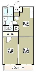 デザインコート2[1階]の間取り