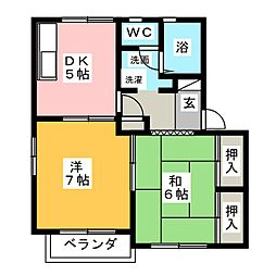 マ・メゾン 弐番館[2階]の間取り