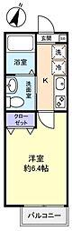 Lavie大和田[2階]の間取り