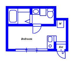 相鉄本線 西谷駅 徒歩7分の賃貸アパート 1階ワンルームの間取り