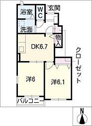 ファインスクエア A棟[1階]の間取り