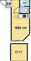 アーヴェル桜ケ丘[105号室]の間取り