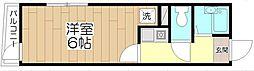 オペラシオンボォヌール竹の塚[103号室]の間取り