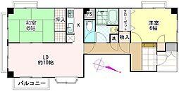 プレステージ浦和[401号室]の間取り