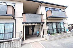 岡山県岡山市北区田中丁目なしの賃貸アパートの外観