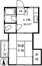 定山荘[206号室]の間取り