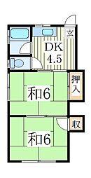 コーポ寺嶋[1階]の間取り