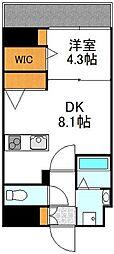 YOU'S VII番館 11階1DKの間取り