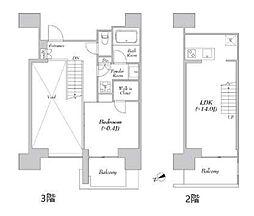 JR山手線 浜松町駅 徒歩14分の賃貸マンション 3階1LDKの間取り