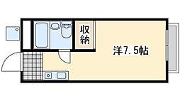 高田マンション 3階ワンルームの間取り