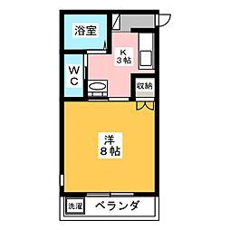 スカイヒルズマンション[3階]の間取り