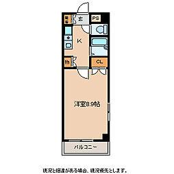 エトワール上田[3階]の間取り