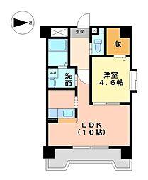 愛知県名古屋市守山区大字下志段味字横堤の賃貸マンションの間取り