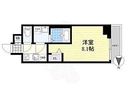 メイクス錦糸町 6階1Kの間取り