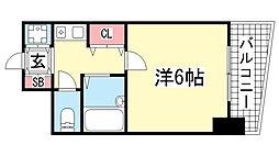 ランドマークシティ神戸西元町[3階]の間取り