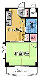 レジデンス・オーク[2階]の間取り