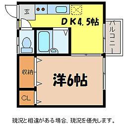 中の江荘 2号[1階]の間取り