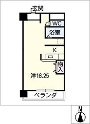 ひまわりやなべ[4階]の間取り