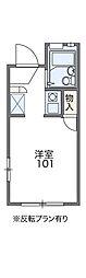 JR阪和線 下松駅 徒歩11分の賃貸アパート 1階1Kの間取り