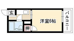 愛知県名古屋市天白区御前場町の賃貸アパートの間取り