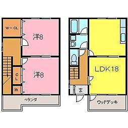 [テラスハウス] 愛知県安城市和泉町上之切 の賃貸【/】の間取り