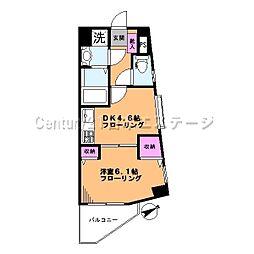 東京都大田区東雪谷1丁目の賃貸マンションの間取り