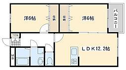 Blanc Bonheur Kokura[4階]の間取り