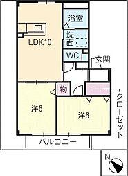 エスペランサIV[2階]の間取り