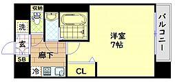 Osaka Metro中央線 九条駅 徒歩7分の賃貸マンション 10階1Kの間取り