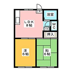 メゾン・ド・YUKI[1階]の間取り