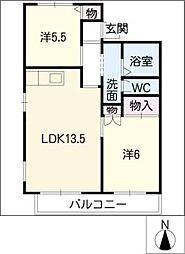 アークガーデン岩崎 A棟[2階]の間取り