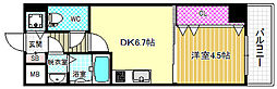 シャルマンフジ福島[7階]の間取り