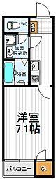 大阪府大阪市阿倍野区昭和町2丁目の賃貸アパートの間取り