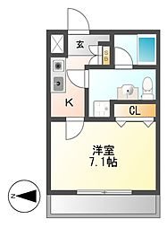 AMBER HOUSE JINGU[6階]の間取り