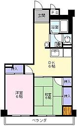 島村ハイツ[203号室]の間取り