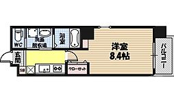 WENS 大阪城北 9階1Kの間取り