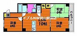 ラ・メール東島田[2階]の間取り