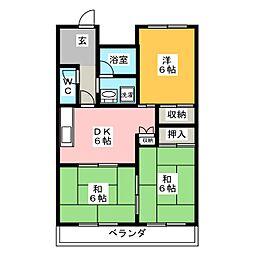 福寿豊成[5階]の間取り