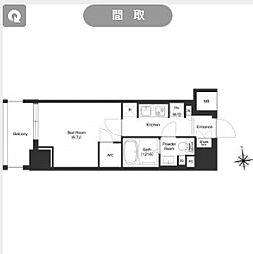 都営大江戸線 新御徒町駅 徒歩11分の賃貸マンション 7階1Kの間取り